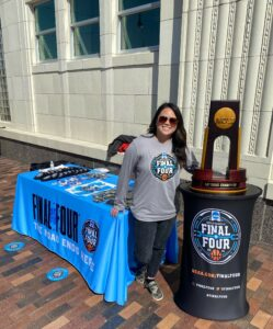 Picture of Vanessa Smith at Final Four Fan Jam event for blog post