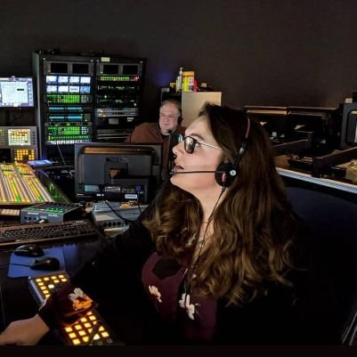 Picture of Christina Molinari in production booth