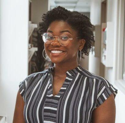Junior Camryn Daniels, PR track student