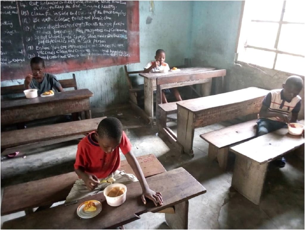 Classroom after social distencing on Rivers State, Nigeria