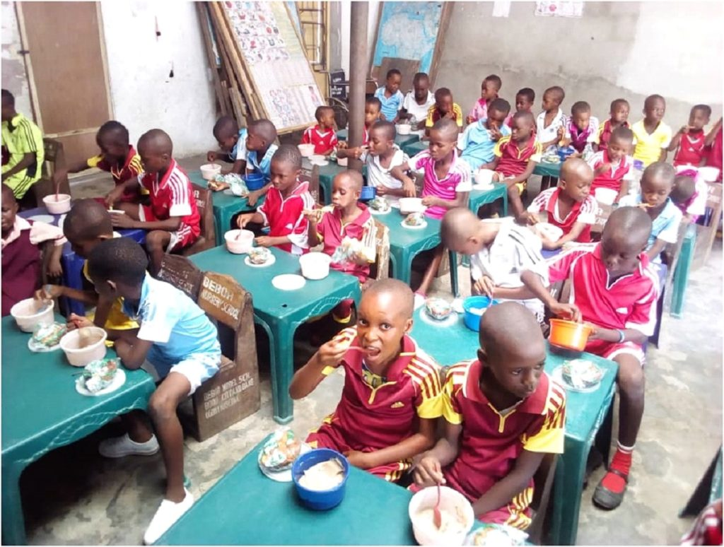 Classroom before social distencing on Rivers State, Nigeria