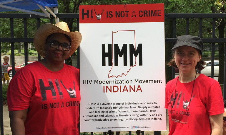 Long Term HIV Survivors and HIV Modernization Movement Advocates - Michelle Harris from Fort Wayne Indiana and IUPUI Professor Carrie Foote. Image courtesy of Prof. Foote.