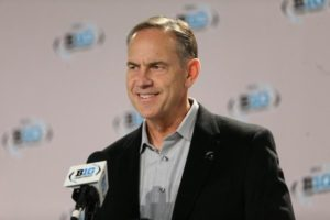 Mark Dantonio speaking to the media ahead of Saturday's Big Ten Championship.