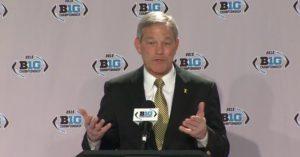 Kirk Ferentz speaks to the media ahead of Saturday's Big Ten Championship Game.