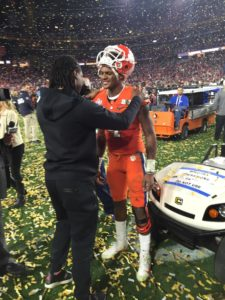 Clemson sophomore quarterback Deshaun Watson on the field after the Tigers' 45-40 loss to Alabama in the College Football Playoff National Championship on Jan. 11 in Glendale, Arizona. (Photo by Frank Gogola)